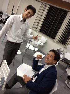 田村コーチと熊澤コーチ。 これからよろしくお願いします!