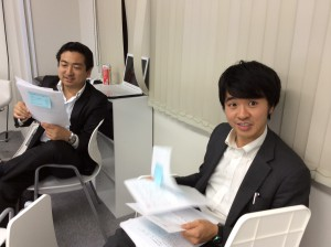 熊澤コーチ(左)とヒロサブコーチ(右)、3ヶ月よろしくお願いします!