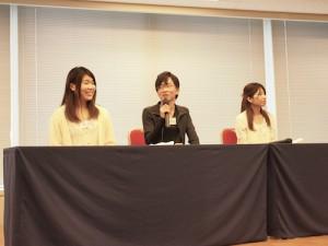 クラス代表は松井さん、西村くん、永富さん!