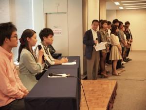 クラス代表3名は、四條くん、前田さん、海野くんでした!