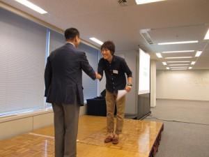 広域訪問賞(モンゴル!)受賞の、伊藤くん。